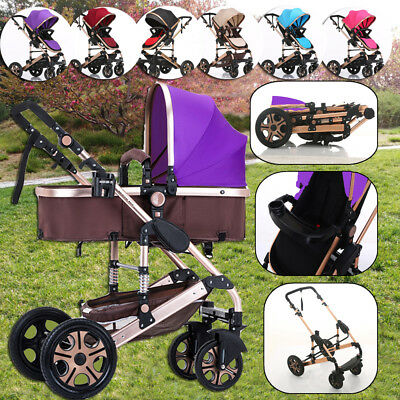 Baby Travel System Pram Newborn Jogger Stroller & Bassinet 3 in 1 Kids Pushchair