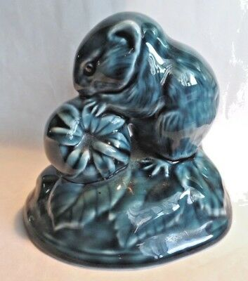 Vintage Poole Pottery Field Mouse Eating a Stawberry