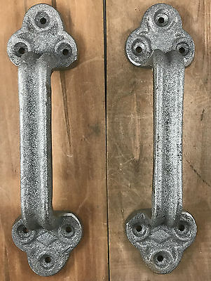 Raw Cast Iron Gate Shed Barn Door Pull  Handle Heavy Duty Set/2 Shed Barn Pull