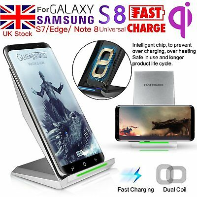 For Samsung Fast Charging Wireless Charger Galaxy S8 + S7 Edge Stand Phone Plate
