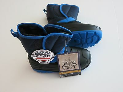 NIB Kamik US -10- Child Tickles Black Blue Faux Fur Winter Boot Toddler Unisex