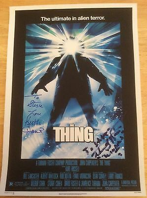 The Thing A4 Signed/Autograph - Keith David & Thomas G. Waites