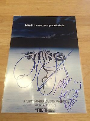 The Thing - A4 Signed/Autograph - John Carpenter - Keith David
