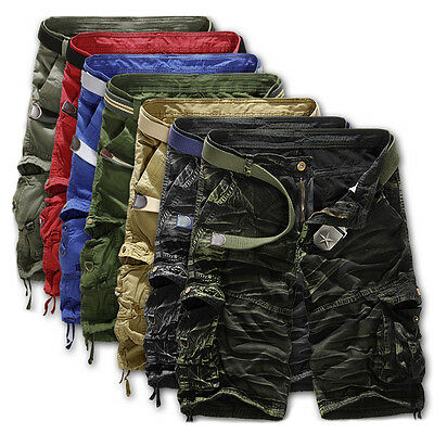 Military Men's Cotton Cargo Pants Combat Camouflage Camo Army Style Trousers New