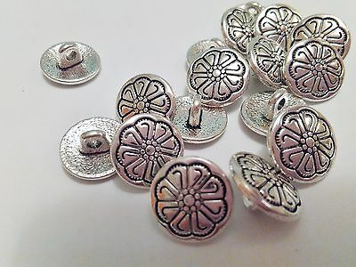 Job Lot 30 Tibetan Silver Round Shank Buttons 17mm Filagree More Available
