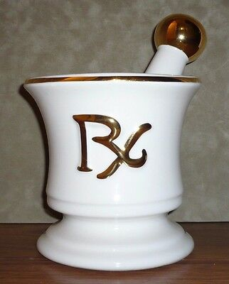 Large Vintage Mid 20th Century Pharmacy Advertising Display Mortar and Pestle