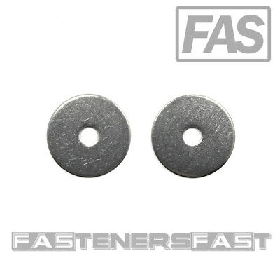 """(50) #10 ID x 1 OD Stainless Steel Fender Washer #10 x 1""""Large OD Flat Washers"""