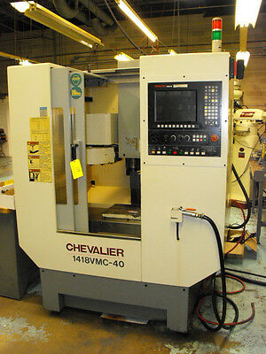 Chevalier Model 1418-Vmc-40 Cnc Vertical Machining Center W/anilam 6000 12 Pos