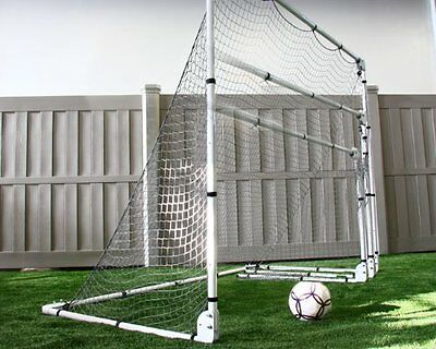 Large Portable Soccer Goal with Adjustable Height and Width Heavy Duty Nylon Net