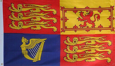 5' x 3' UK ROYAL STANDARD CREST FLAG LARGE Wedding New