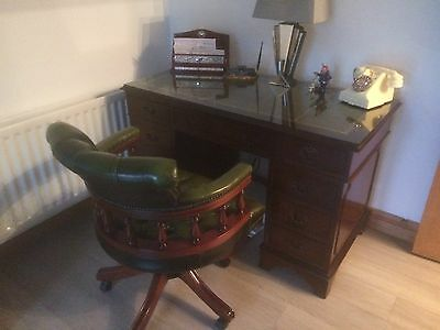 Regency mahogany style desk and matching Captains chair