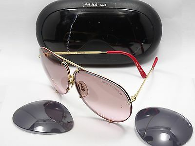 1c90733623db Vintage Carrera Porsche Design 5623 Col.36 Red 130 Sunglasses + Extra Lens  +Case