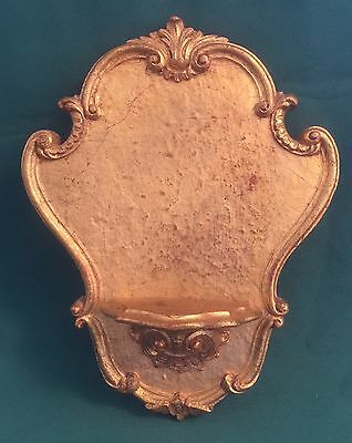 Vintage Italian Florentine Wall Shelf Display For Statue Gold Gilt Clifford Art