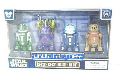Disney Parks Star Wars Droid Factory Set of Four R2-C2 R5-013 R5-S9 R5-P8