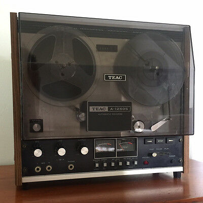 TEAC A-1250s Reel to Reel with Dust Cover