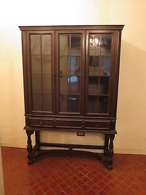 "64 1/2""  Wood Dovetail Construction China Cabinet Hutch"