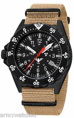 KHS Tactical Watches Shooter H3 Men Watch Easy To Read Date Swiss Made KHS.SH.NT