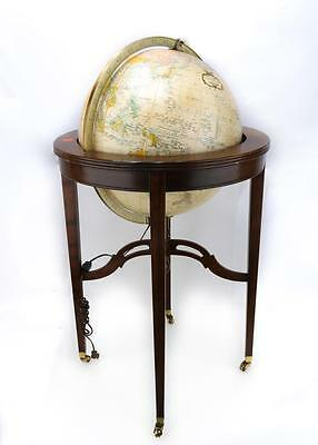 "A 16"" HEIRLOOM GLOBE BY REPLOGE, ON A MAHOGANY.M020. Lot 2260"