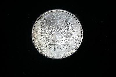 MEXICO COLLECTOR 1900 UN PESO Zs FZ SILVER MEXICAN SPANISH COIN #145