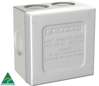 Cabac Sunset Switch 10Amp Ip66 Rated Weatherproof