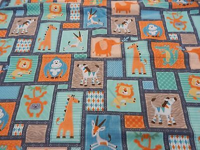 Baby Blanket Jungle Buddies Fleece Backed Large Size 100cm x 120cm