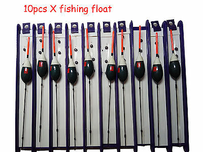 10 x Pole Float Bobbers Pole Rigs Carp Fishing Tackle Barb Hook Ready Tied 1gram