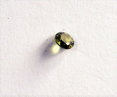Australian Natural Faceted Yellow Round Cut 0.5ct Sapphire