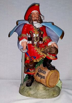 Vintage Ceramic Captain Morgan Pirate With Sword Standing On A Rum Barrel, 1970s