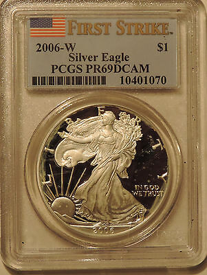2006-W Silver American Eagle PCGS PR69DCAM First Strike near perfect ASE proof
