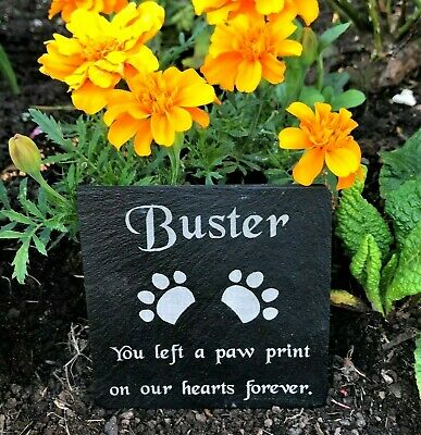 Personalised Engraved Pet Memorial Slate Headstone Grave Marker Plaque Cat