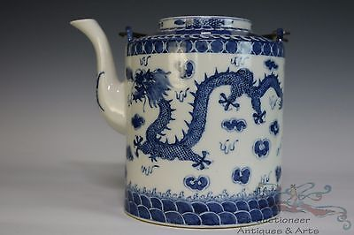 Blue and White Beautiful Chinese Porcelain Dragon Teapot