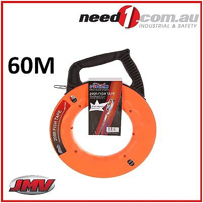 JMV 200ft/60M Durable Electrical Steel Wire Fish Tape