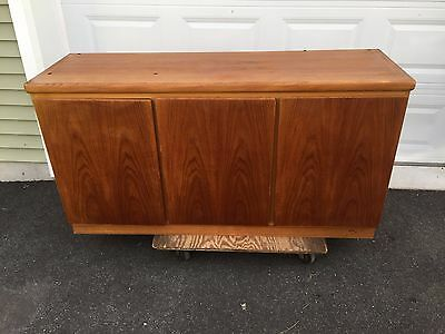 Rasmus Three Door Teak Credenza China Cabinet Base Vintage