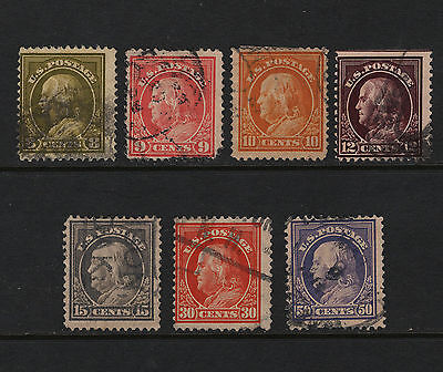 OPC Lot of 7 1912-14 Sc#414 415 416 417 418 420 421 used Mixed Condition