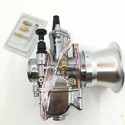 Tuning PWK 24 mm carb Vergaser chrome Edition+Power jet + jets+ stack rep keihin