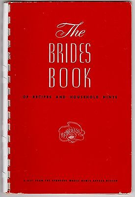 Vtg BRIDES BOOK of RECIPES & HOUSEHOLD HINTS1957 cookbook MN Curtis Hotel