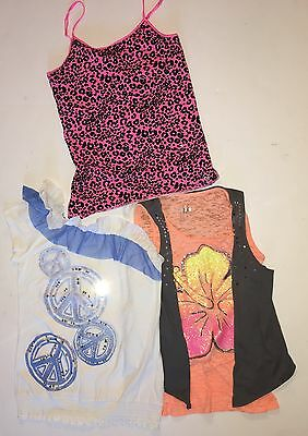 5 Piece Lot JUSTICE Girls Size 18 Shirts Tank Tops Summer Shorts Sparkle Stars