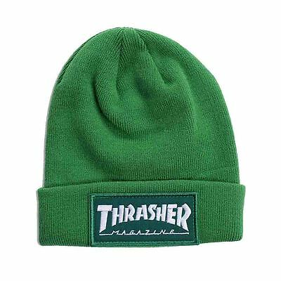 Thrasher - Patch Beanie Green