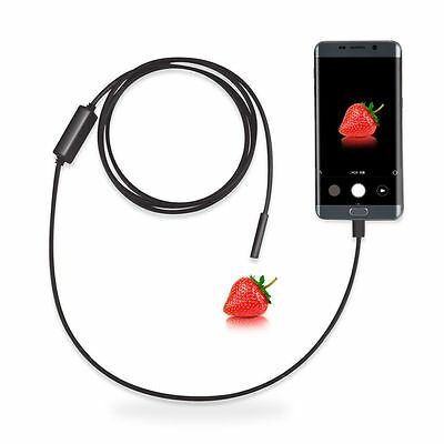 HOT 2M Waterproof Snake Borescope USB Camera 6 LED Android Smartphone Endoscope