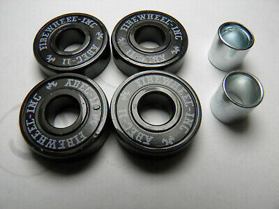 4 x ABEC 11 SCOOTER SKATEBOARD BEARINGS *NEW*BLACK SHIELDS