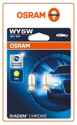2x OSRAM 2827DC DIADEM CHROME WY5W 12V amber side indicator signal auto Germany