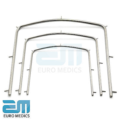 Professional Dental Rubber Dam Frame Set Of 3 Small Medium Large Endodontic Tool