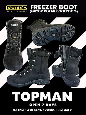 cool work boots safety toe coolroom FREEZER boots strong hard wearing  ZIP sider
