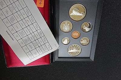 1986 Canada Set 7 Coin Silver Dollar Proof Set