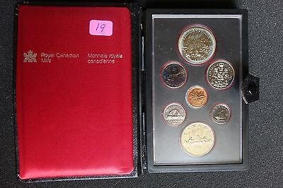 Canada 1980 silver 7 Coin Double Dollar Specimen Set COA Display Case