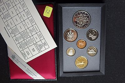 RCM 1994 Seven (7) Coin Proof Set Last RCMP Dog Run Sterling Silver Dollar w/COA