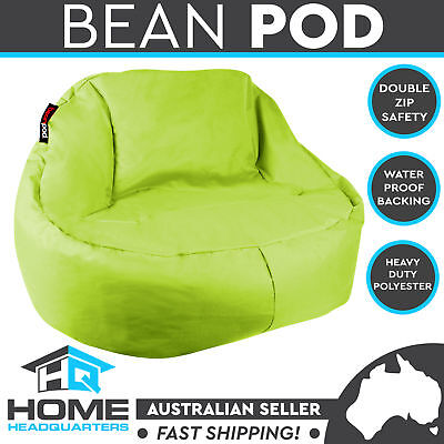 NEW Green Lime Beanbag Waterproof Cover No Beans Indoor Outdoor Cafe Camping