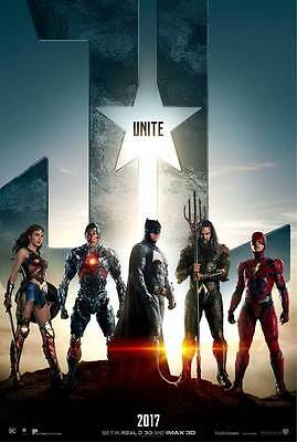 """JUSTICE LEAGUE Movie Poster [Licensed-New-USA] 27x40"""" Theater Size DC"""