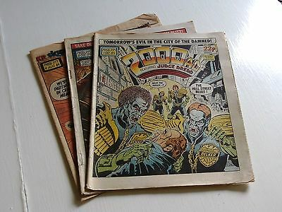 2000Ad Progs-3 Issues From 1984