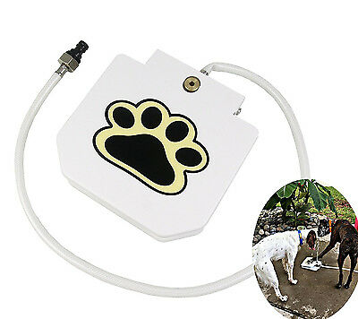 Step & Spray Foot Pedal Paw Sprinkler Dog Cat Water Drinking Fountain Feeder